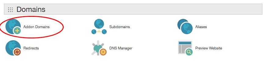 כניסה ל-Addon Domain בתוך Cpanel