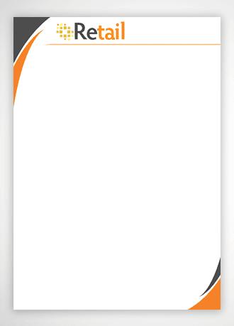 נייר מכתבים לדוגמא עבור retail