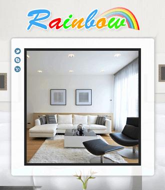 אתר לדוגמא ב-HTML לחברת Rainbow