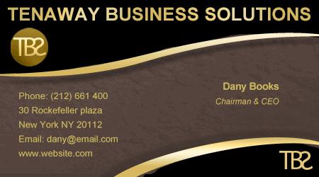כרטיס ביקור לדוגמא לחברת ייעוץ עסקי
