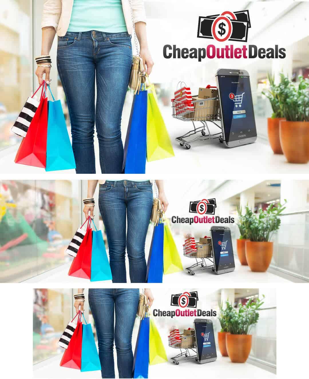 עיצוב חבילת מדיה חברתית לאתר קניות באינטרנט
