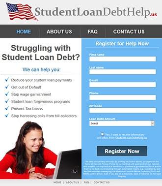 אתר HTML לדוגמא להלוואות סטודנטים