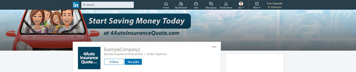 Linkedin Banner Design For Car Insurance