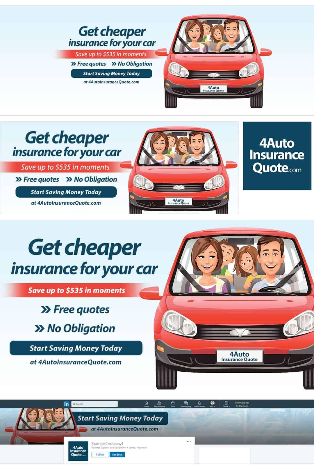 חבילת מדיה חברתית לדוגמא לחברת ביטוח לרכב