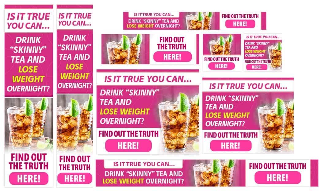 סט באנרים לדוגמא להורדה במשקל