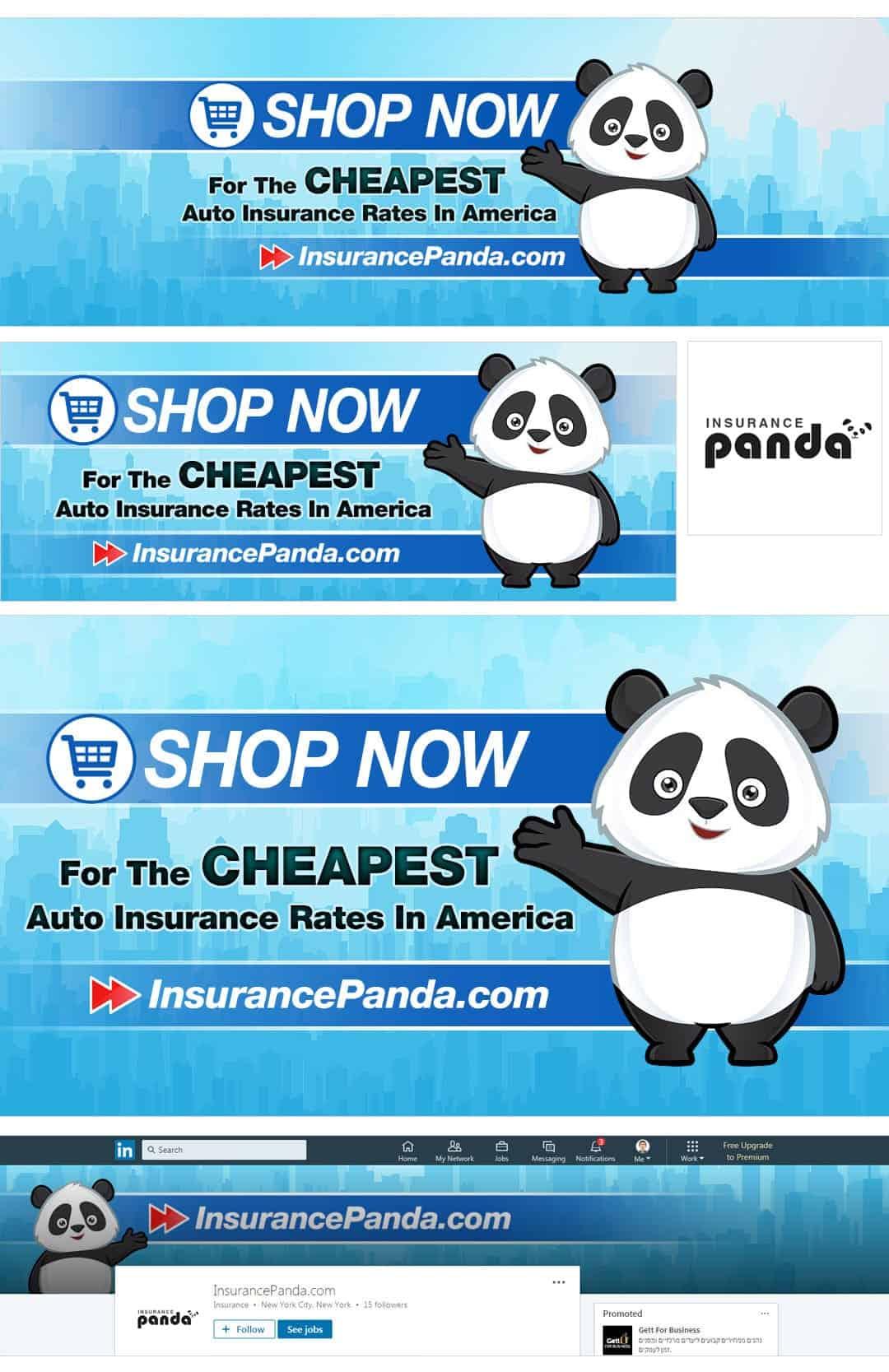 חבילת מדיה חברתית לדוגמא עבור השוואות ביטוח לרכב