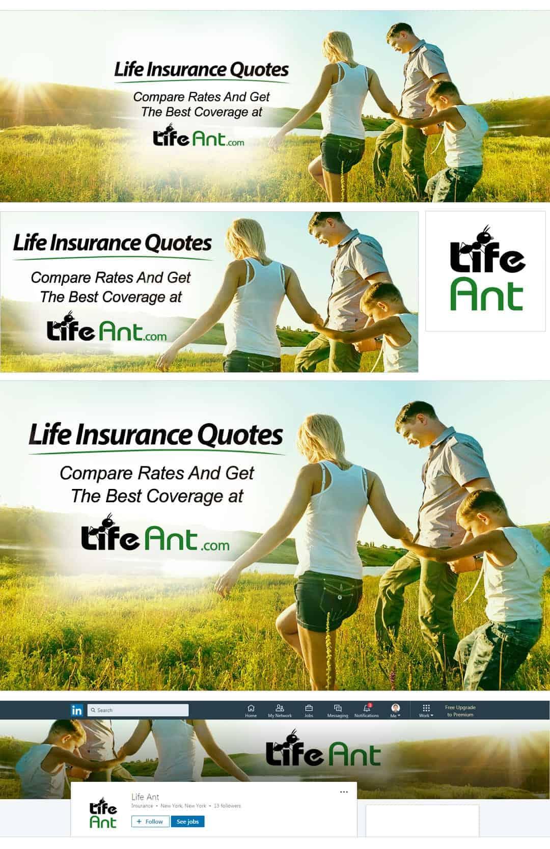 חבילת מדיה חברתית לדוגמא לביטוח חיים