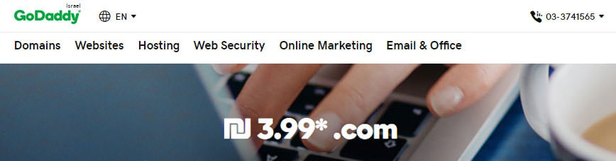 דומיין com בדולר אחד מ-godaddy