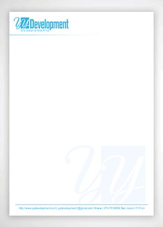 ניירת מכתבים לדוגמא למעצב גרפי