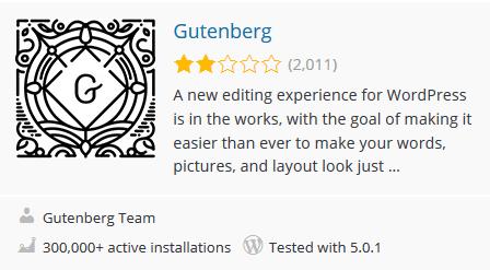 תוסף Gutenberg לוורדפרס