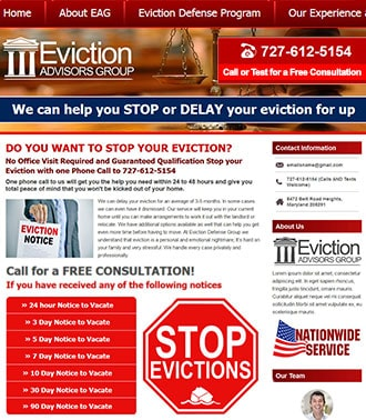 פיתוח אתר אינטרנט HTML לעורך דין