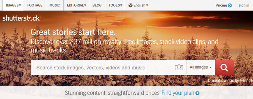 שאטרסטוק אתר תמונות בתשלום