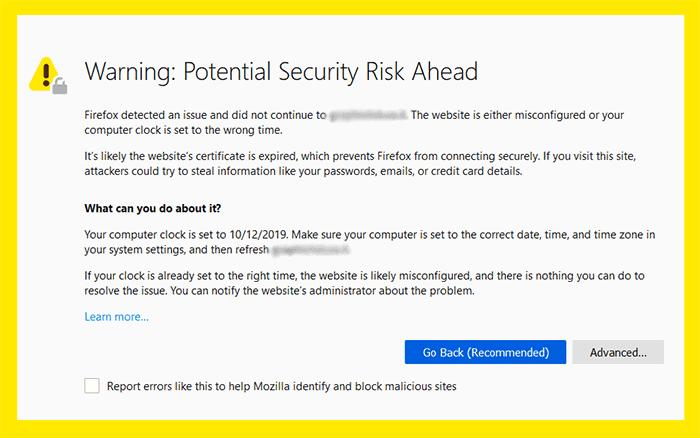 אתר לא מאובטח ללא SSL
